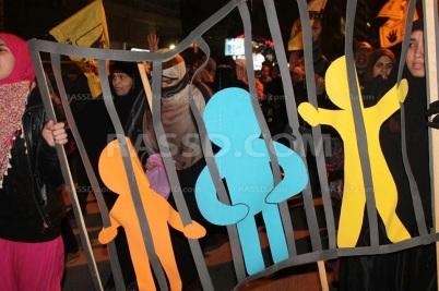 جانب من تظاهرة رافضة للاعتقال التعسفي بمصر خلال 2014